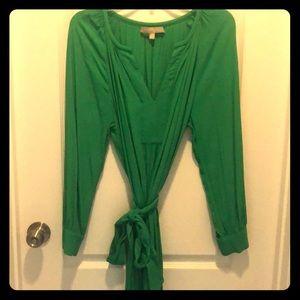 Banana Republic green wrap dress size 10